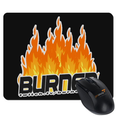Motiv: Mousepad Textil - Burned Flames