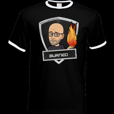 Motiv: T-Shirt Ringer - BurnedLogo
