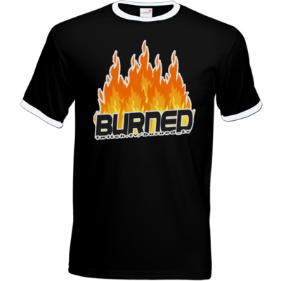 Motiv: T-Shirt Ringer - Burned Flames
