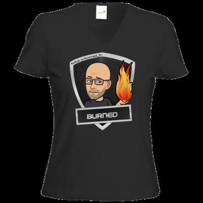 Motiv: T-Shirt Damen V-Neck Classic - BurnedLogo