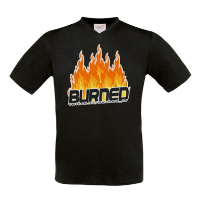 Motiv: T-Shirt V-Neck FAIR WEAR - Burned Flames