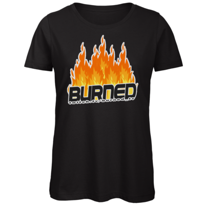 Motiv: Organic Lady T-Shirt - Burned Flames