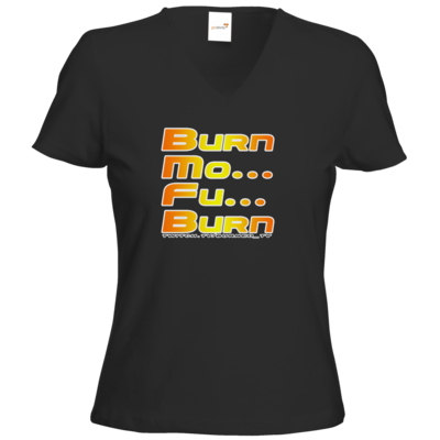 Motiv: T-Shirt Damen V-Neck Classic - BurnMoFu