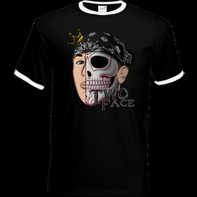 Motiv: T-Shirt Ringer - Logo weißer