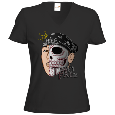 Motiv: T-Shirts Damen V-Neck FAIR WEAR - Logo weißer