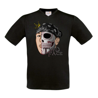 Motiv: T-Shirt V-Neck FAIR WEAR - Logo weißer