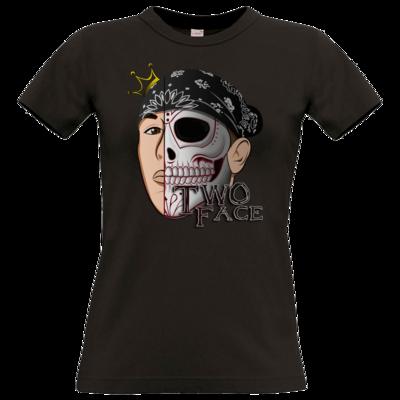 Motiv: T-Shirt Damen Premium FAIR WEAR - Logo weißer