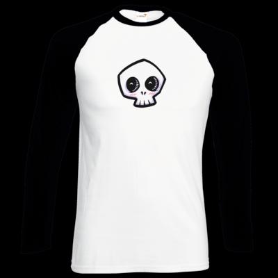Motiv: Longsleeve Baseball T - scrumpy - happy skull