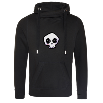 Motiv: Cross Neck Hoodie - scrumpy - happy skull