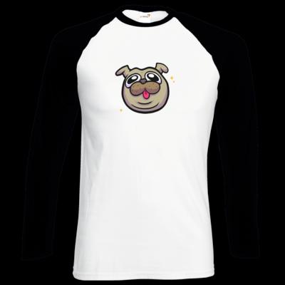 Motiv: Longsleeve Baseball T - fritzi - cute pug