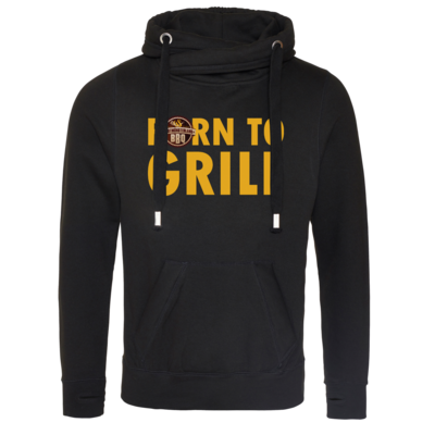 Motiv: Cross Neck Hoodie - Born to grill