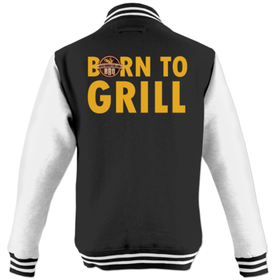 Motiv: College Jacke - Born to grill