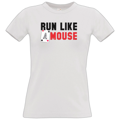 Motiv: T-Shirt Damen Premium FAIR WEAR - Run Like A Mouse -  Macron