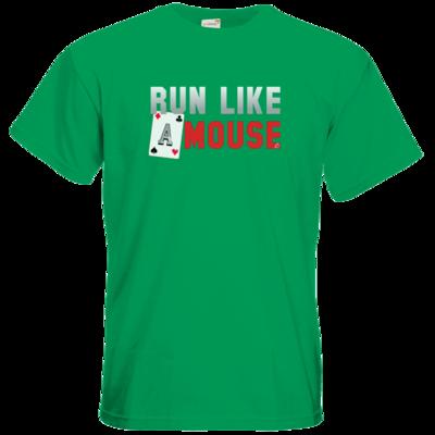 Motiv: T-Shirt Premium FAIR WEAR - Run Like A Mouse -  Macron