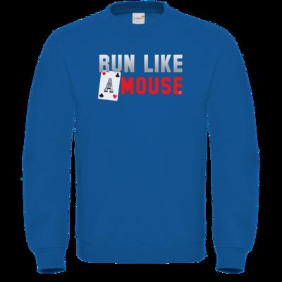 Motiv: Sweatshirt FAIR WEAR - Run Like A Mouse -  Macron