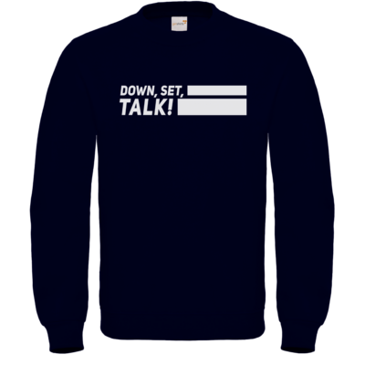 Motiv: Sweatshirt FAIR WEAR - Down, Set, Talk!