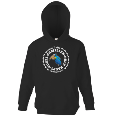 Motiv: Kids Hooded Sweat - Familienoberhauptvogel