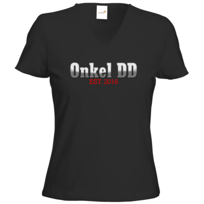 Motiv: T-Shirts Damen V-Neck FAIR WEAR - Logo