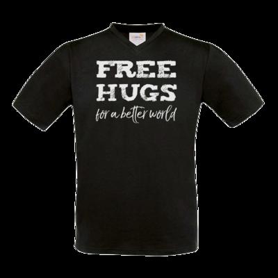 Motiv: T-Shirt V-Neck FAIR WEAR - Free Hugs #01