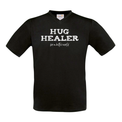 Motiv: T-Shirt V-Neck FAIR WEAR - Hug Healer #01