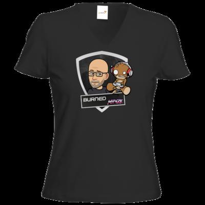 Motiv: T-Shirt Damen V-Neck Classic - BurnedMinze