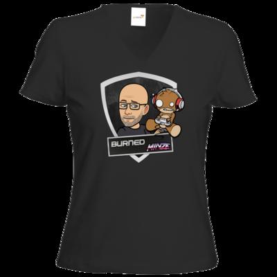 Motiv: T-Shirts Damen V-Neck FAIR WEAR - BurnedMinze