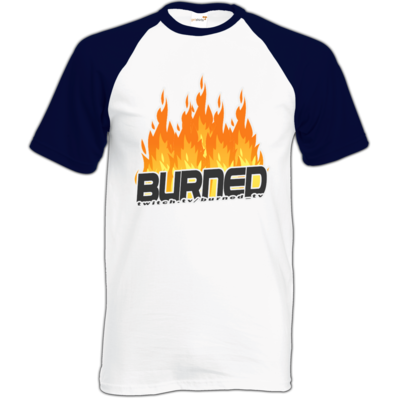 Motiv: Baseball-T FAIR WEAR - Burned Flames