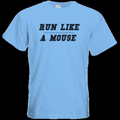 Motiv: T-Shirt Premium FAIR WEAR - Run Like A Mouse - Retro