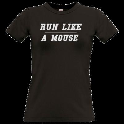 Motiv: T-Shirt Damen Premium FAIR WEAR - Run Like A Mouse - Retro