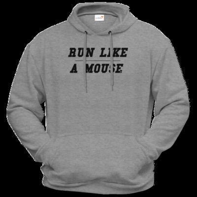 Motiv: Hoodie Premium FAIR WEAR - Run Like A Mouse - Retro