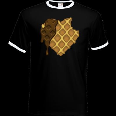 Motiv: T-Shirt Ringer - bakacrHerz