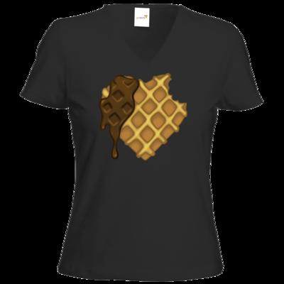 Motiv: T-Shirt Damen V-Neck Classic - bakacrHerz