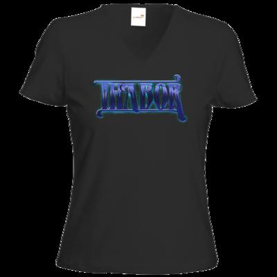 Motiv: T-Shirts Damen V-Neck FAIR WEAR - Thabor Logo