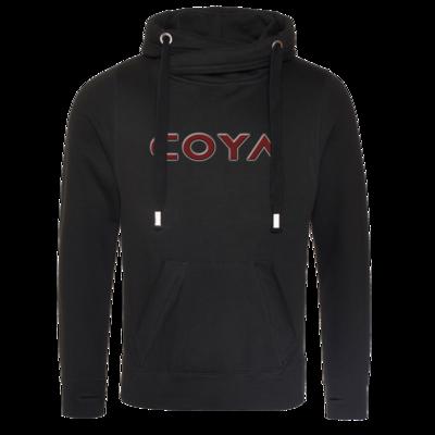 Motiv: Cross Neck Hoodie - Coya Logo