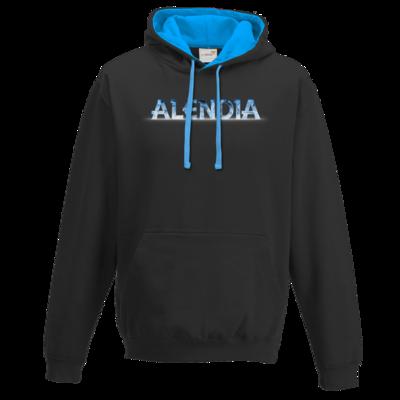 Motiv: Two-Tone Hoodie - Alendia Logo Blau