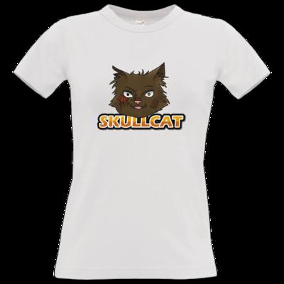 Motiv: T-Shirt Damen Premium FAIR WEAR - Skullcat-Logo