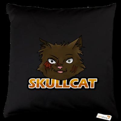 Motiv: Kissen Baumwolle - Skullcat-Logo