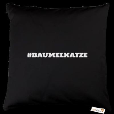 Motiv: Kissen Baumwolle - Hash Baumelkatze
