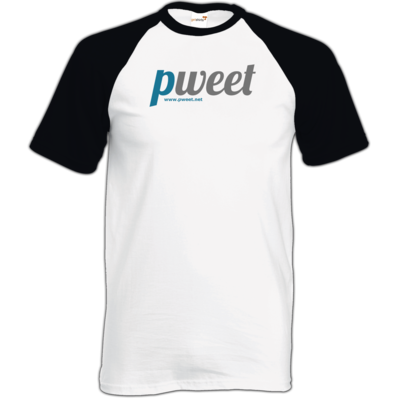 Motiv: TShirt Baseball - Pweet Logo 1