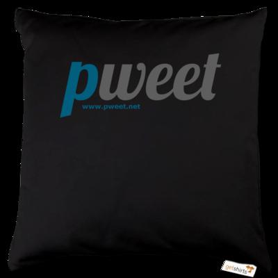 Motiv: Kissen Baumwolle - Pweet Logo 1