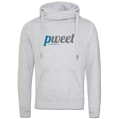 Motiv: Cross Neck Hoodie - Pweet Logo 1