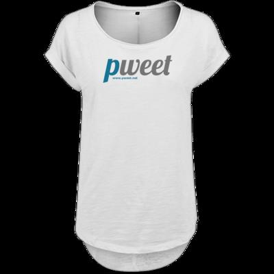 Motiv: Ladies Long Slub Tee - Pweet Logo 1