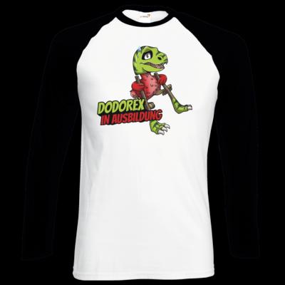Motiv: Longsleeve Baseball T - Dodo-Rex in Ausbildung
