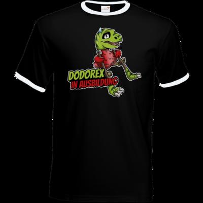 Motiv: T-Shirt Ringer - Dodo-Rex in Ausbildung