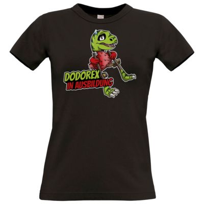 Motiv: T-Shirt Damen Premium FAIR WEAR - Dodo-Rex in Ausbildung