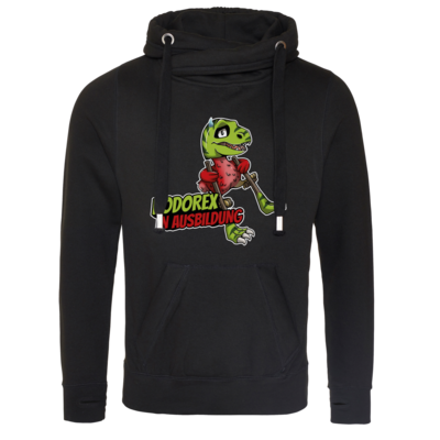 Motiv: Cross Neck Hoodie - Dodo-Rex in Ausbildung