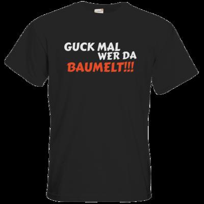 Motiv: T-Shirt Premium FAIR WEAR - Guck mal wer da Baumelt