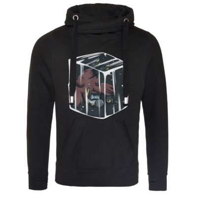 Motiv: Cross Neck Hoodie - Dodo Below Zero