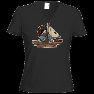 Motiv: T-Shirt Damen V-Neck Classic - Sinkendes Niewoh