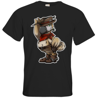 Motiv: T-Shirt Premium FAIR WEAR - Wild West Dodo
